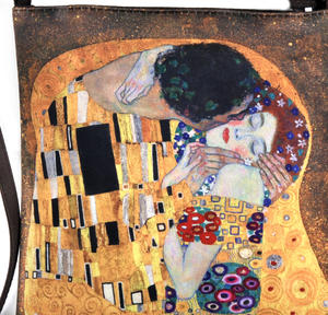 Gustav Klimt - The Kiss - Small Cross Body Bag with Detachable Strap Thumbnail 2