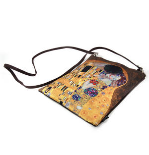 Gustav Klimt - The Kiss - Small Cross Body Bag with Detachable Strap Thumbnail 3