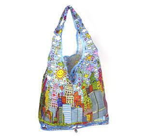 James Rizzi New York City - Bag in a Bag - Foldaway Zipper Shopper Bag Thumbnail 1