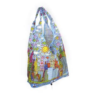 James Rizzi New York City - Bag in a Bag - Foldaway Zipper Shopper Bag Thumbnail 3