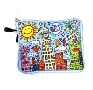 James Rizzi New York City - Bag in a Bag - Foldaway Zipper Shopper Bag Thumbnail 5