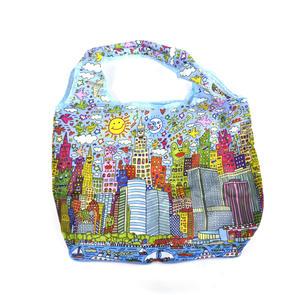 James Rizzi New York City - Bag in a Bag - Foldaway Zipper Shopper Bag Thumbnail 6