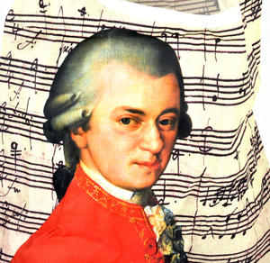 Mozart - Bag in a Bag - Foldaway Zipper Shopper Bag Thumbnail 2