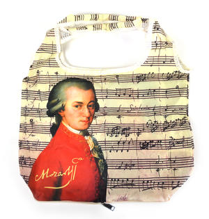 Mozart - Bag in a Bag - Foldaway Zipper Shopper Bag Thumbnail 4