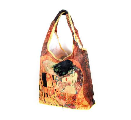 Gustav Klimt - Bag in a Bag - Foldaway Zipper Shopper Bag