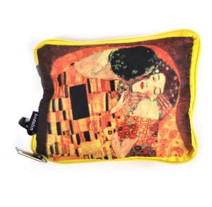 Gustav Klimt - Bag in a Bag - Foldaway Zipper Shopper Bag Thumbnail 2