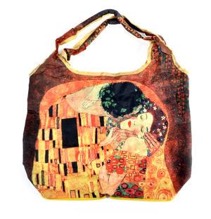 Gustav Klimt - Bag in a Bag - Foldaway Zipper Shopper Bag Thumbnail 3