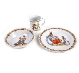 Beatrix Potter Peter Rabbit Peter Rabbit Flower Band Breakfast - Set of 3 Pieces Thumbnail 1
