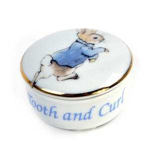 Beatrix Potter Peter Rabbit First Tooth and Curl Round Box Thumbnail 4