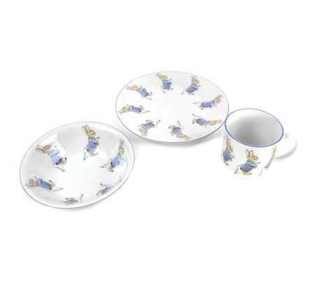Beatrix Potter Peter Rabbit Breakfast - Set of 3 Pieces