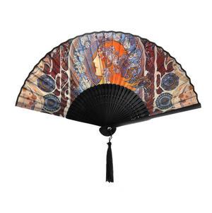 Art Nouveau Hand Fan - Alphonse Mucha - Zodiac
