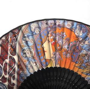 Art Nouveau Hand Fan - Alphonse Mucha - Zodiac Thumbnail 2