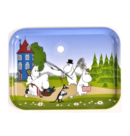 Moomin Summer Holiday - Moomin Bamboo Tray 27 x 20cm