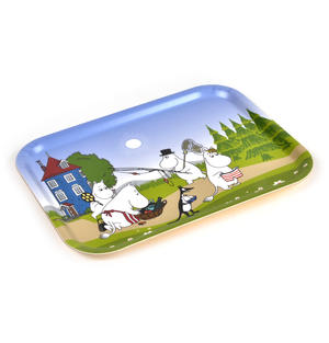 Moomin Summer Holiday - Moomin Bamboo Tray 27 x 20cm Thumbnail 2