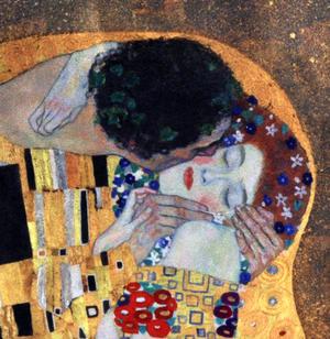 Gustav Klimt - Large Washbag / Cosmetics / Toiletry Bag - The Kiss Thumbnail 3