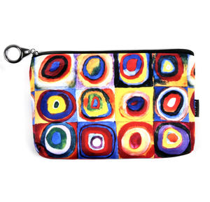Kandinsky - Colour Study Squares - Small Zipper Bag Thumbnail 1