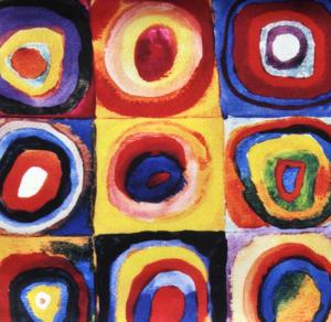 Kandinsky - Colour Study Squares - Small Zipper Bag Thumbnail 2