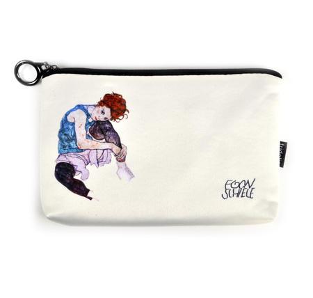 Egon Schiele - Small Zipper Bag - Edith