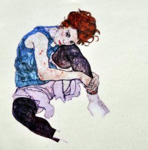 Egon Schiele - Small Zipper Bag - Edith Thumbnail 2