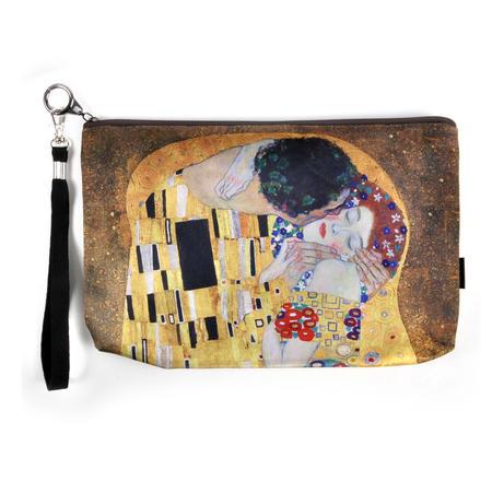 Gustav Klimt - Large Zipper Bag  - The Kiss