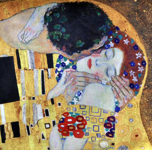 Gustav Klimt - Large Zipper Bag  - The Kiss Thumbnail 2