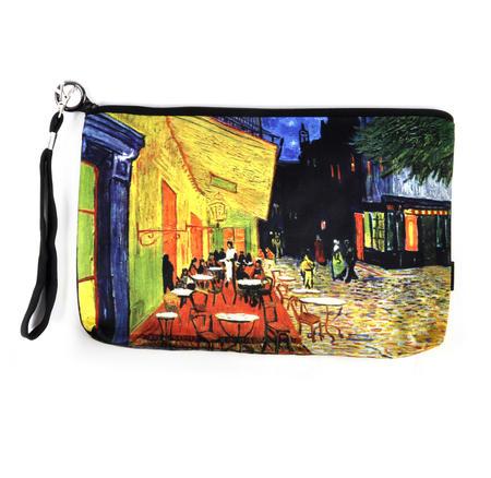 Vincent Van Gogh - Large Zipper Bag - Café by Night