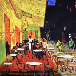 Vincent Van Gogh - Large Zipper Bag - Café by Night Thumbnail 2