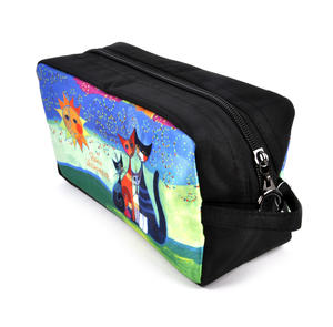 Rosina Wachtmeister Washbag / Cosmetics / Toiletry Bag - Momenti di felicita / Moments of Happiness - Cat Family Thumbnail 3