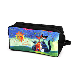 Rosina Wachtmeister Washbag / Cosmetics / Toiletry Bag - Momenti di felicita / Moments of Happiness - Cat Family Thumbnail 4