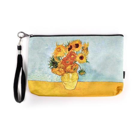 Vincent Van Gogh - Large Zipper Bag - Sunflowers