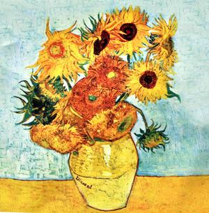 Vincent Van Gogh - Large Zipper Bag - Sunflowers Thumbnail 2