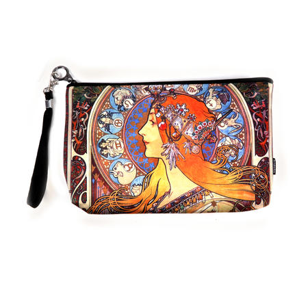 Art Nouveau - Large Zipper Bag - Alphonse Mucha - Zodiac