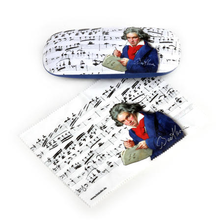Beethoven Glasses Case with Lens Cloth