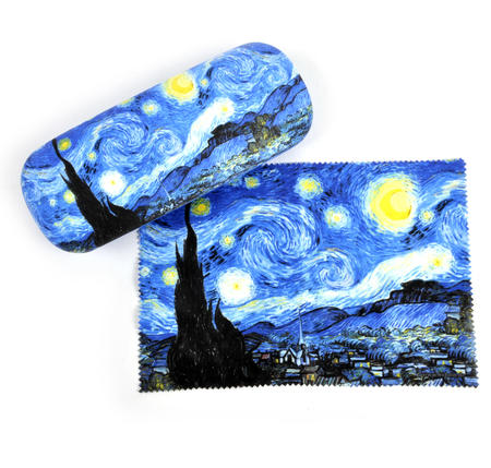 Vincent Van Gogh - Starry Starry Night - Glasses Case with Lens Cloth