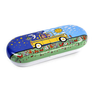 James Rizzi- Taxi and Some Pigeons - Glasses Case Thumbnail 3