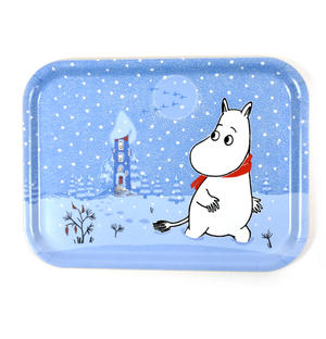 Moomin Sunset Swim - Moomin Birch Wood Tray 27 x 20cm Thumbnail 1