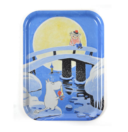 Moomin Sunset Swim - Moomin Birch Wood Tray 27 x 20cm