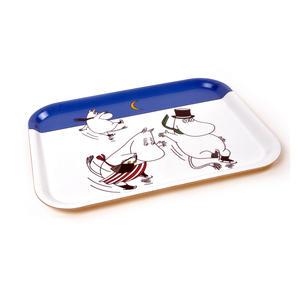 Moomin Sunset Swim - Moomin Birch Wood Tray 27 x 20cm Thumbnail 2