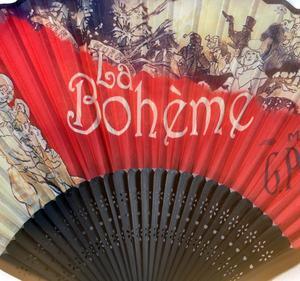 La Bohème Hand Fan  - Puccini's Opera La Boheme Fan in Case Thumbnail 2
