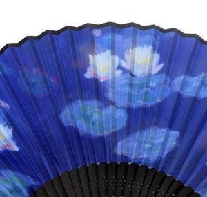 Claude Monet Hand Fan  - Monet's Water Lillies Fan in Case Thumbnail 2