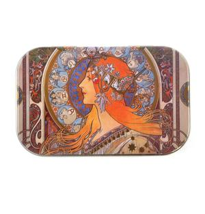 Art Nouveau Art Box - Secret Stash Box- Alphonse Mucha - Zodiac Thumbnail 3