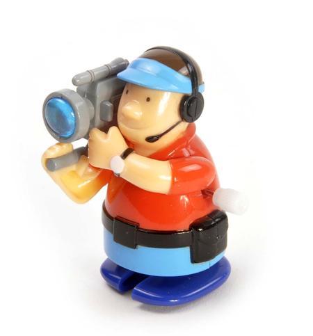 Clockwork Cameraman - Wind Up Professional Outside Broadcast Television Cameraman - Random Colours - Rapid Runner
