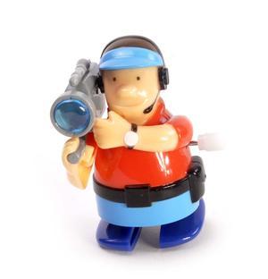 Clockwork Cameraman - Wind Up Professional Outside Broadcast Television Cameraman - Random Colours - Rapid Runner Thumbnail 2