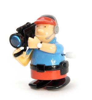 Clockwork Cameraman - Wind Up Professional Outside Broadcast Television Cameraman - Random Colours - Rapid Runner Thumbnail 4