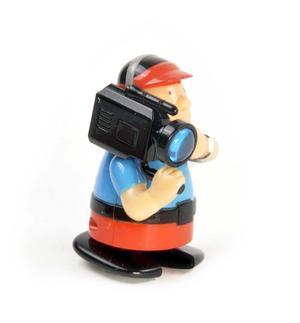 Clockwork Cameraman - Wind Up Professional Outside Broadcast Television Cameraman - Random Colours - Rapid Runner Thumbnail 5