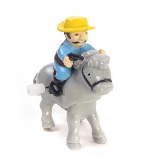 Clockwork Horse Riders - Random Designs - Wind Up Cowboy, Indian or Jockey - Mini Rider