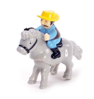 Clockwork Horse Riders - Random Designs - Wind Up Cowboy, Indian or Jockey - Mini Rider Thumbnail 2