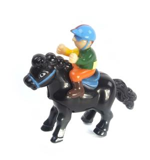 Clockwork Horse Riders - Random Designs - Wind Up Cowboy, Indian or Jockey - Mini Rider Thumbnail 3