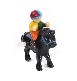 Clockwork Horse Riders - Random Designs - Wind Up Cowboy, Indian or Jockey - Mini Rider Thumbnail 4