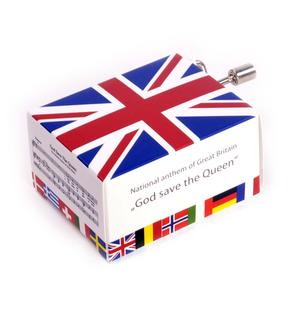 British National Anthem - God Save the Queen - Handcrank Music Box Thumbnail 1